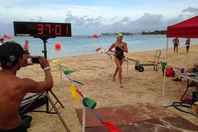 Magic Island Biathlon Finish